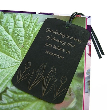 Quality Leather Bookmark - Believe in Tomorrow