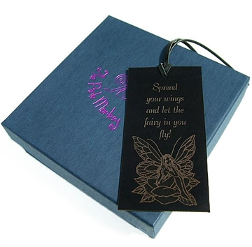 Leather Fairy Bookmark - Spread Your Wings Fairy