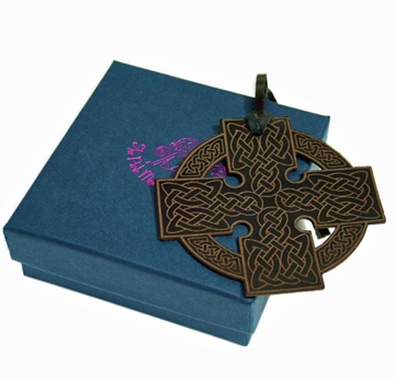 Quality Leather Cletic Bookmark - Celtic Cross