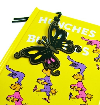 Leather Children's Bookmark - Butterfly Flying