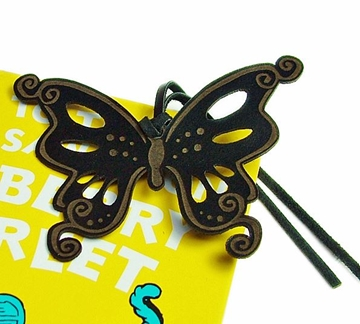 Leather Bookmark - Butterfly