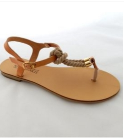 Genuine Leather Sandals With Soft Cord and Adjustable Ankle Straps