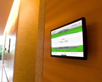 Book and manage rooms directly outside the conference room
