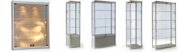 Aluminium Display Cabinets with lights