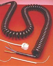 Mains Voltage Heavy Duty Coiled Leads