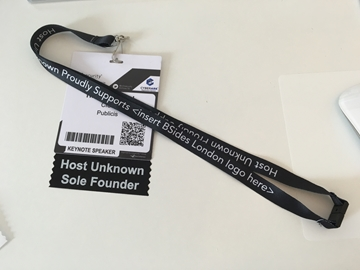 Ribbons with humorous slogan for conferences and events