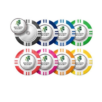 Promotional Vegas Poker Chip Dome Golf Ball Markers