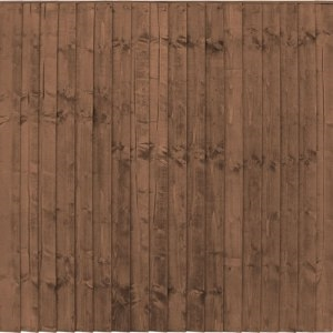 FRAMED CLOSEBOARD PANELS - BROWN