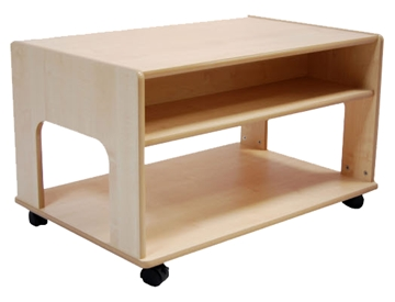 Mobile Play Table with Storage Area