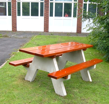 Concrete Picnic Tables Street Furniture Park Benches Park Seats - Concrete picnic table forms