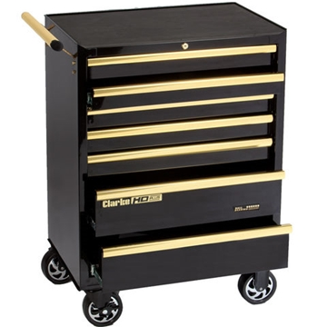 Clarke CBB217BGB HD Plus 7 Drawer Tool Cabinet (Black & Gold)