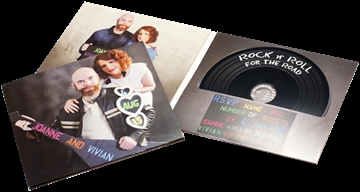 CDs in 4 page printed card single disc slit wallets