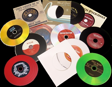 Vinyl CDs in record-style card sleeves