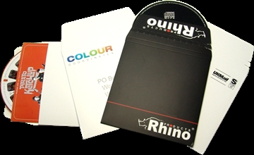 Printed card CD and DVD mailers