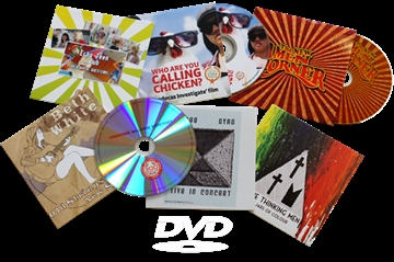 DVDs in Printed Card Wallets