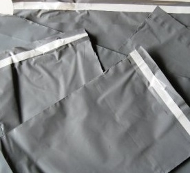 Grey Opaque Poly Mailing Bags inc Permanent Self Adhesive Strip