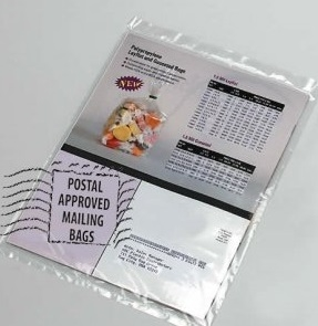 Clear Poly Mailing Bags inc Permanent Self Adhesive Strip