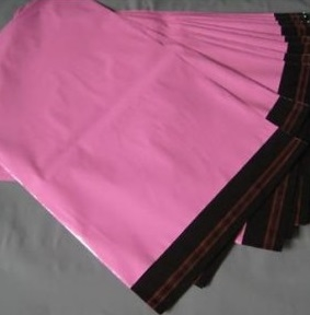 Pink Opaque Poly Mailing Bags inc Permanent Self Adhesive Strip