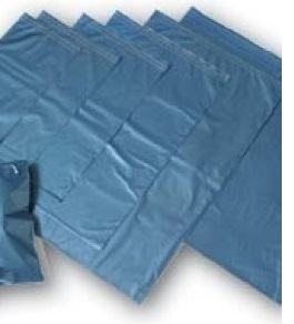 Metallic Blue Poly Mailing Bags inc Permanent Self Adhesive Strip