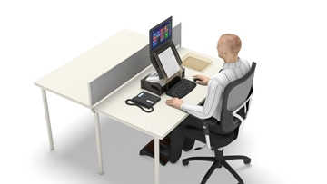 Effects on posture of not setting up your laptop correctly