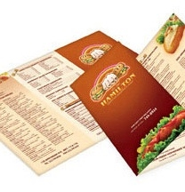 Folded 6 Page Menu Printing Services
