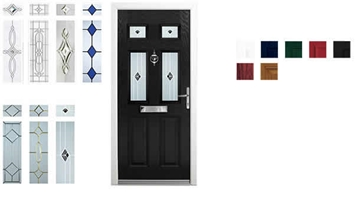 Composite Security Doors For The Home (uPVC or Woodgrain Look)