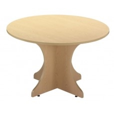 Circular Meeting Table with Gullwing Legs