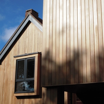 Western Red Cedar Clear Tongue & Groove Cladding