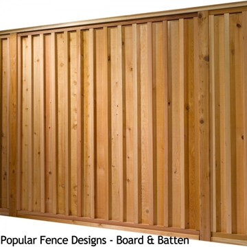 Western Red Cedar Board & Batten Fencing