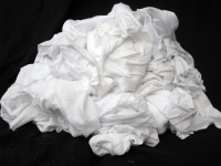 White Cotton Stockinette (Hosiery) Wipes 10kg