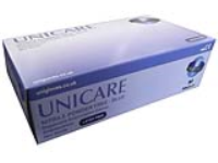 Unigloves Blue Powder Free Nitrile Gloves 100
