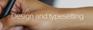 Design and typesetting services in London