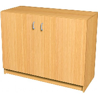 1000mm High Wooden Storage Cupboard with coloured doors