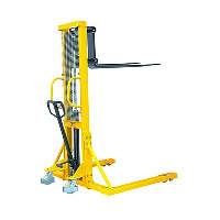1000 kgs Wide Straddle Hydraulic Stacker with Straddle Forks