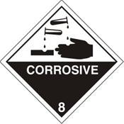 Corrosive Warning Label - CLEARANCE
