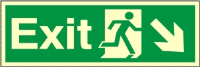 Exit Arrow Down Right - Fire Safety Sign (EX.43) - CLEARANCE