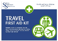 Travel First Aid Kit - Individual, Personal, Vehicle, Off-site First Aid Kit - HSE Compliant