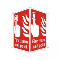 Fire Alarm Call Point - Projecting Health and Safety Sign (PRO.01)