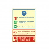 Fire Action - Health and Safety Sign (ACT.03)