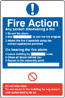 Fire Action - Fire Point - Fire Health and Safety Sign (ACT.09)