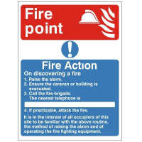Fire Action - Fire Point - Fire Health and Safety Sign (ACT.10)
