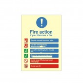 Fire Action - Fire Health and Safety Sign (ACT.15)