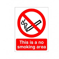 This Is A No Smoking Area - Health and Safety Sign (PRS.01)