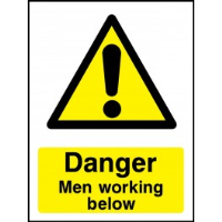 Warning Men Working Below - Health and Safety Sign (WAC.04)