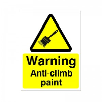 Warning Anti-Climb Paint - Health and Safety Sign (WAG.24)