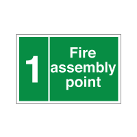 Fire Assembly Point - Numbered / Lettered - Health and Safety Sign (FE.11)