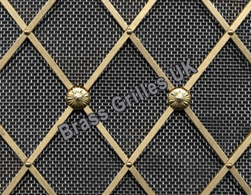 Natural Brass with Stainless Steel Mesh Backing