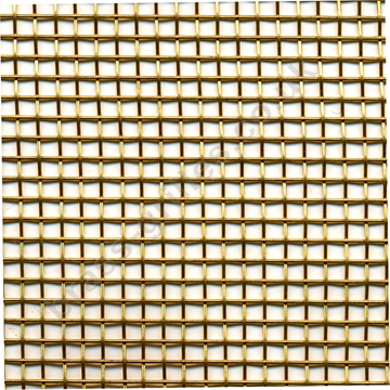 Brass Woven Wire Mesh Approx. 2.5mm Holes, 0.6mm Wire