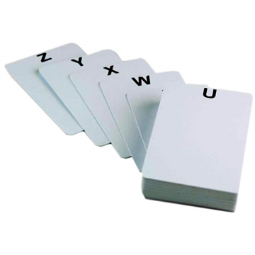 Alphabet Plastic Cards
