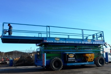 Diesel Scissor Lift Hire in Derbyshire